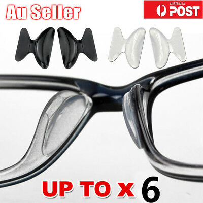 1~6 Pair Silicone Anti-Slip Stick On Nose Pads for Eyeglass Sunglasses Glasses M