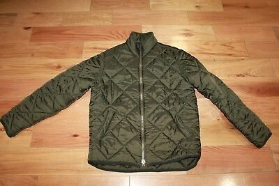 Authentic BARBOUR MENS OLIVE GREEN PUFFER JACKET SIZE M