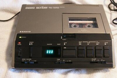 Sanyo TRC-8070 Cassette Transcription w/Power & Foot pedal, Works Great, in Box