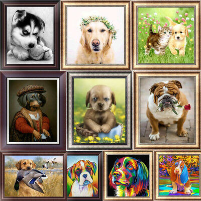 Puppy Dog DIY 5D Diamond Painting Embroidery Animal Cross Stitch Kits Home Decor