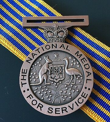 The Australian National Medal Replica + 25cm Ribbon & FREE Postage