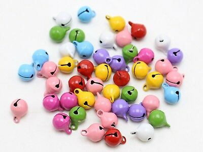 50 Mixed Color JINGLE BELLS ~Christmas~Beads Charms 8mm Decoration DIY Craft
