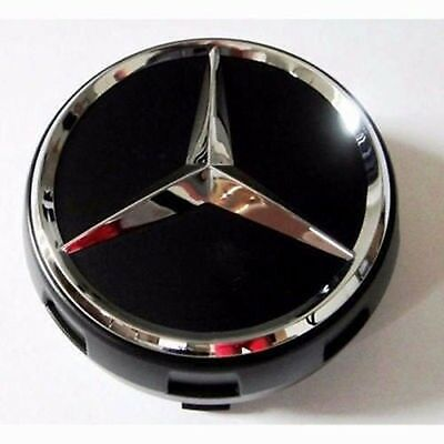 Genuine Mercedes Benz Wheel Center Cap Raised AMG Black 75mm