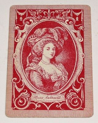 Very Old Vintage Antique Marie Antoinette 1 SINGLE / SWAP PLAYING CARD