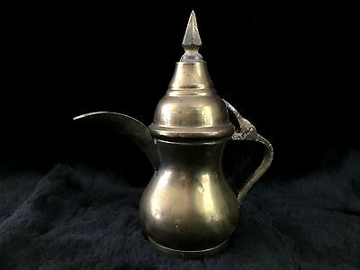 Vintage Signed BAGHDAD IRAQ Islamic DALLAH Arabic COFFEE POT Middle East BEDOUIN
