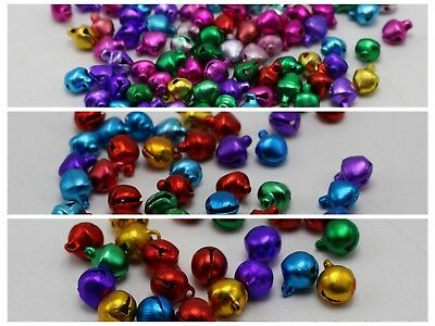 Mixed Color Aluminum Christmas Jingle Bells Beads Charms  Decoration DIY