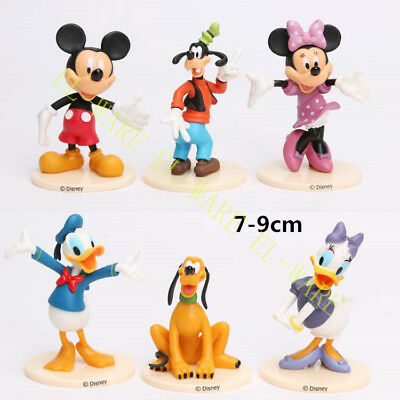 6 Pcs Disney Mickey Mouse ClubHouse Action Figure Minnie Donald Cake Topper