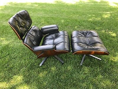 EAMES HERMAN MILLER Vtg Mid Century Modern ROSEWOOD Lounge Chair Ottoman