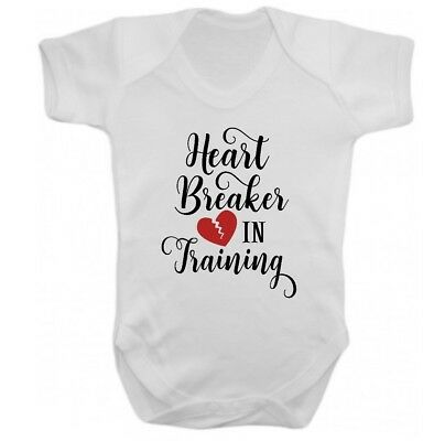 Heart Breaker In Training Cute Baby Vest All in One Valentines Day