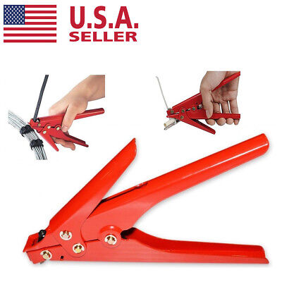 New HEAVY DUTY CABLE ZIP TIES AUTOMATIC TENSION CUTOFF GUN TOOL 120lb.to175lb US