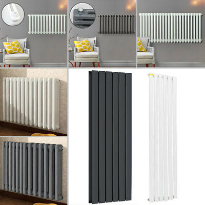 Upright Vertical Designer Radiator Oval Tube Column Panel Tall Central Heat Rads