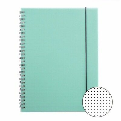 Lime Dotted Bullet Journal PP Hardcover Banded Dot Grid Spiral A5 Notebook