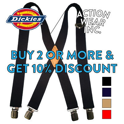 Dickies SUSPENDERS Nylon X-Shaped HEAVY DUTY Industrial Strength Shoulder Straps