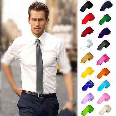 Casual Solid Plain Classic Skinny 100% New Silk Jacquard Woven Necktie Men's Tie