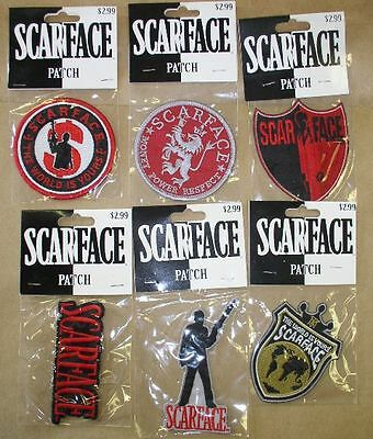 New Lot 6 NIP Scarface Embroidered Patch Al Pacino Tony Montana Drugs Gangster