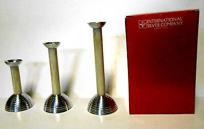 Candle Holders Silver Tone Champagne Colored for Candlesticks 6 8 10 Inches Tall