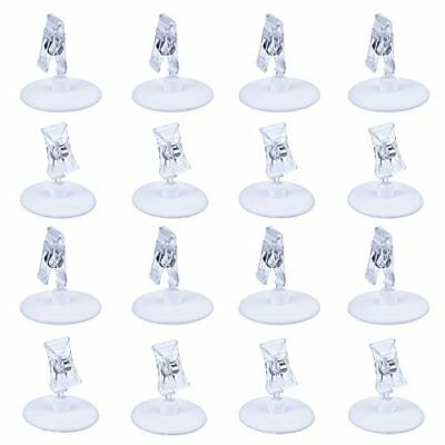 eBoot 16 Pack Plastic Display Clip Holder Rotatable Place Card Sign Holder Cl...