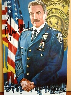 Tom Selleck Authentic Hand Signed 4X6 Photo - BLUE BLOODS TV STAR !!!!