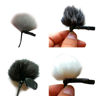 Faux Fur Lapel Lavalier Microphone Mic Windshield Windscreen Wind Muff 1pc Hot
