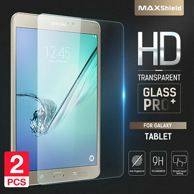 2X Maxshield Samsung Galaxy Tab S2 / S3 9.7 Tempered Glass Screen Protector
