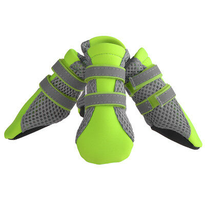 US Pet Dog Boots Breathable Outdoor Anti-Slip Protective Mesh Boots Shoes S L XL