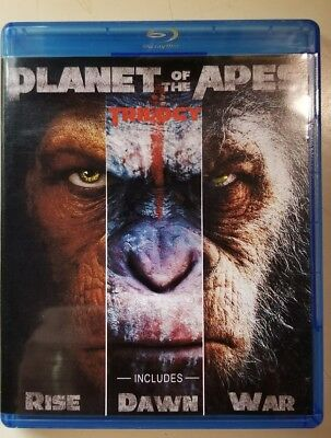Planet of the Apes Trilogy (Bluray) No Digital Code No Slipcover