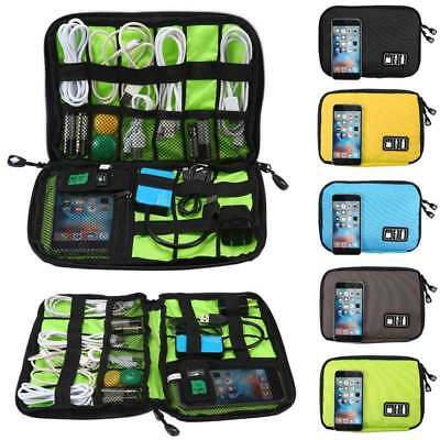 Portable Travel Organiser Bag For Cable Electronic Accessories USB Storage Case