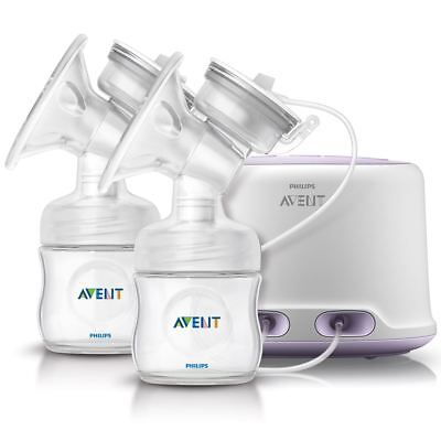 Philips AVENT Comfort Twin Electric Breast Pump Double + Bottle & Teat SCF334/02