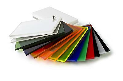 3mm UV Acrylic Perspex SHEET Various Colours 2440 x1220mm Tinted Fluro Display!!