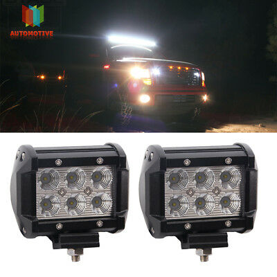 4inch CREE LED Work Driving Light Pod Cube Flood Beam Driving backup light Lamps