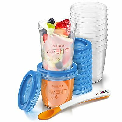 Philips Avent Baby Food Storage Cups 180/240ml Leak-Proof - Pack of 20 SCF721/20