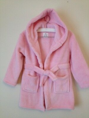 Girls Pink Dressing Gown Aged 18 To 24 Months