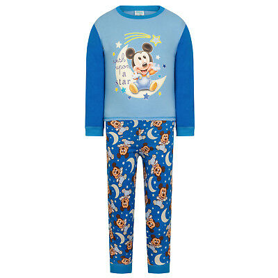 Disney Mickey Minnie Mouse Official Gift Baby Toddler Boys Girls Pyjamas
