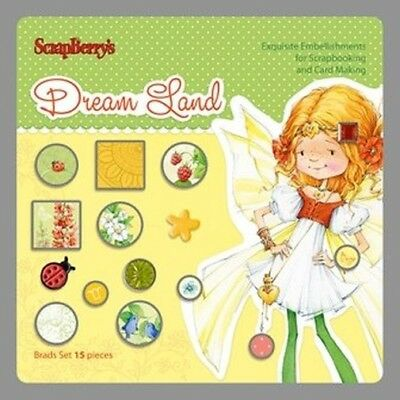 Scrap Berrys Bads SET DREAM LAND SCB340975 Embellishments 15 Stück