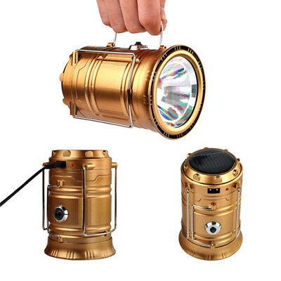 Portable Solar Lantern Camping Hiking Lights DC Rechargeable LED Lamps SQI9