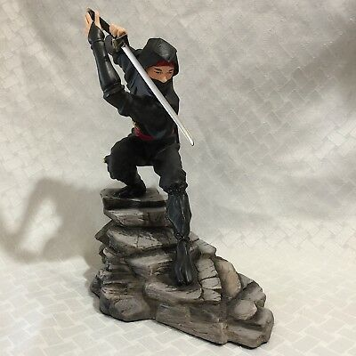 """Sum Nakamura NINJA Figurine Franklin Mint1990 10""""H Repaired Good Young Collector"""