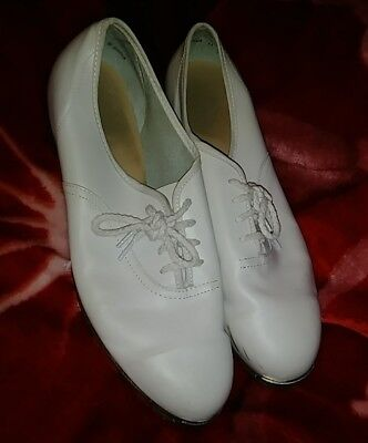 White Women Clog/Tap Shoes w/Stevens Stompers Size11 W