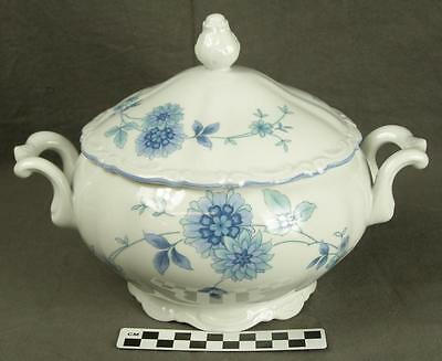 Mitterteich Bavaria Germany MIT161 Blue Floral Fine China Covered Casserole (HH)