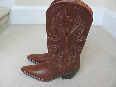 Nomad Trigger Women's Dark Tan/Light Brown Western Boots Size 10-New