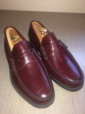 Church's Loafers NEW Vintage Men's US 12.5 W Oxblood Burgundy Slip On EU 45.5
