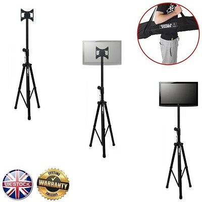 """Gorilla GTV-100 Portable Tripod TV Floor Stand with Mounting Bracket for 17""""-37"""""""