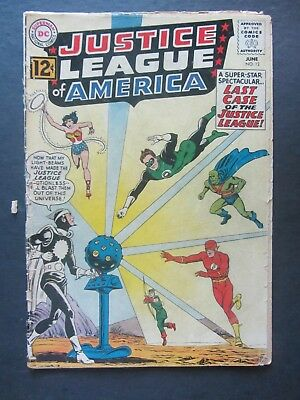 JUSTICE LEAGUE OF AMERICA #12 gd Dr. Light key early 12-c DC Silver Age 1 bk lot