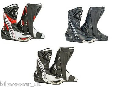Richa Blade Boots - Waterproof Black / Red / White / Fluo Motorcycle boots QZ