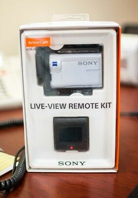 Sony Action Cam HDR-AS300 -  White (with Live-View Remote Kit)