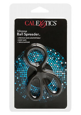 CALEXTICS Ball Spreader BLACK C&B Ring / C-Ring - Silicone Erection Enhancer