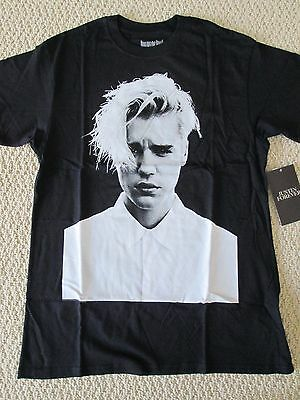 NWT Justin Bieber Purpose World Tour Merch Forever Black Photo Tee Shirt Sz S