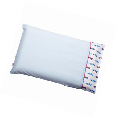 Clevamama Replacement Baby Pillow Case Blue 100% Cotton Airtech Reversible Side
