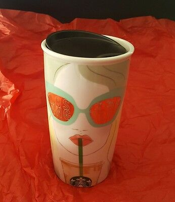 NEW Starbucks Los Angeles Ceramic Double Wall Tumbler Traveler 12 oz Local NWT
