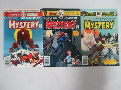 House of Mystery #241,242 & 243 DC Bronze Age Lot VF+ to VF/NM CB186