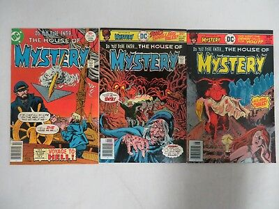 House of Mystery #244,245 & 250 DC Bronze Age Nice Lot VF/NM 9.0 CB187